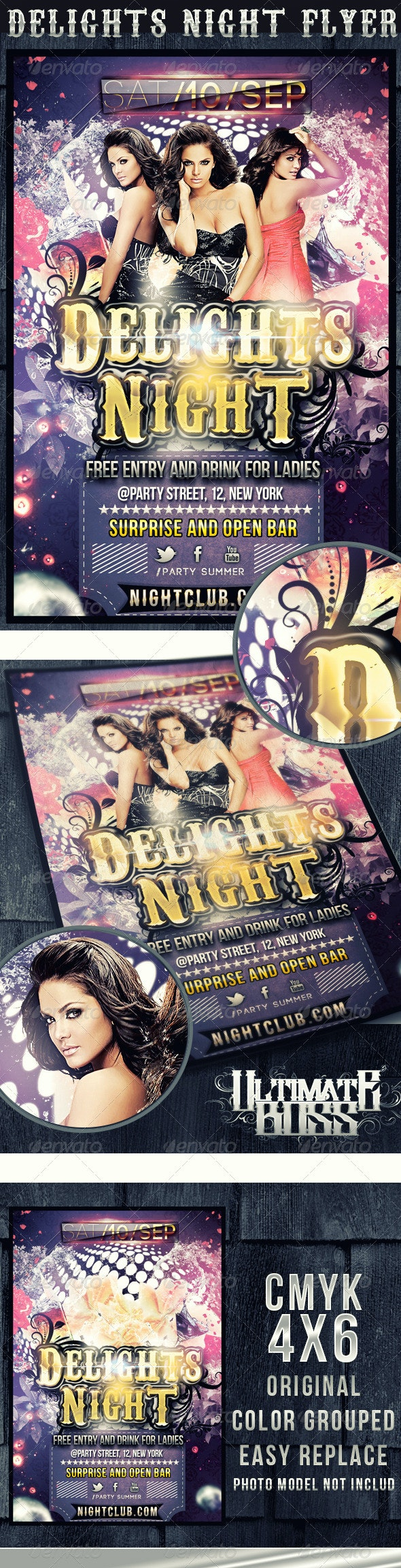 DELIGHTS NIGHT FLYER - Clubs & Parties Events