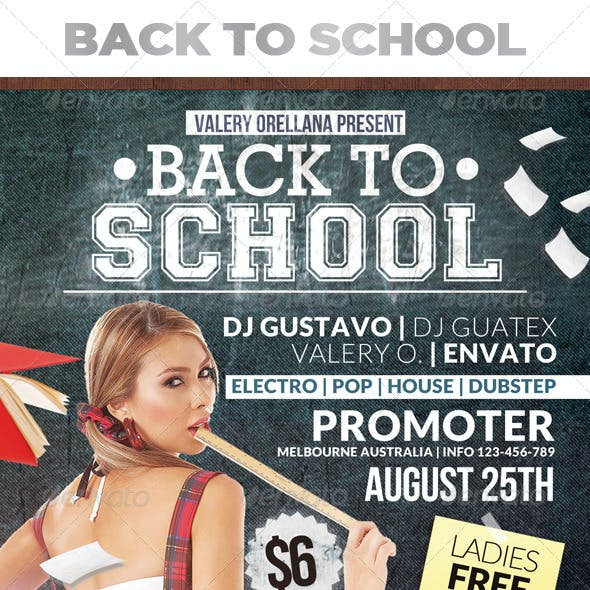 Back to School | AFter School | Flyer Template