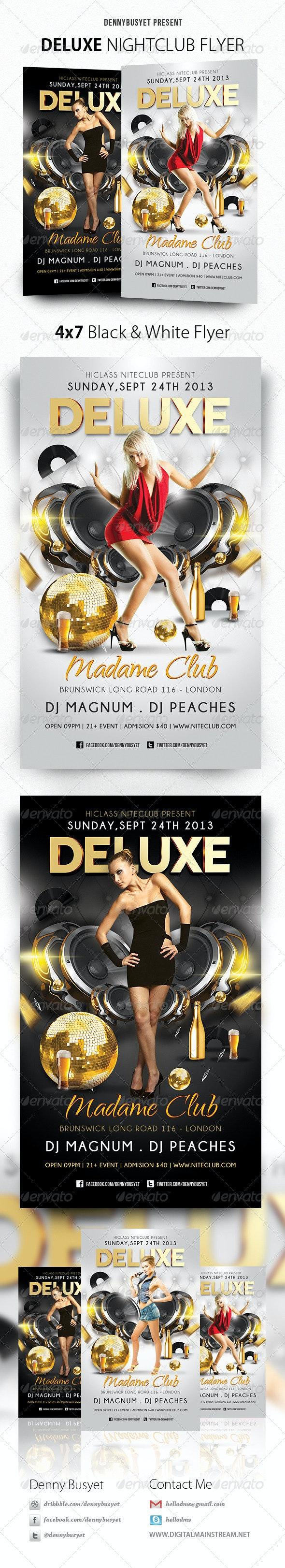 Deluxe Nightclub Flyer - Events Flyers