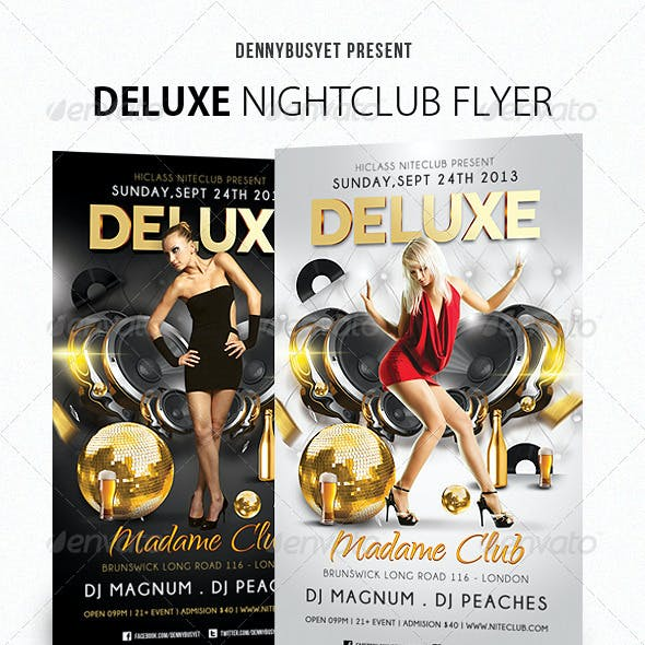 Deluxe Nightclub Flyer