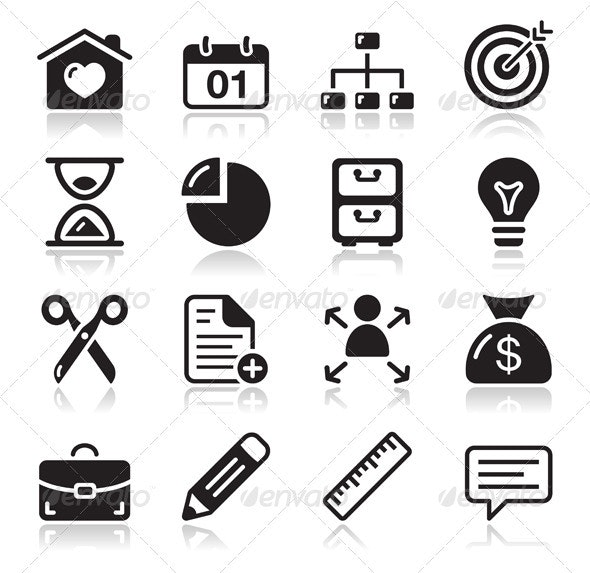 Internet web icons set - Web Elements Vectors