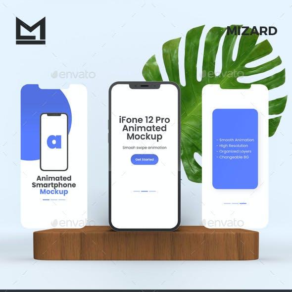 Animated iFone 12 Pro Max Mockup