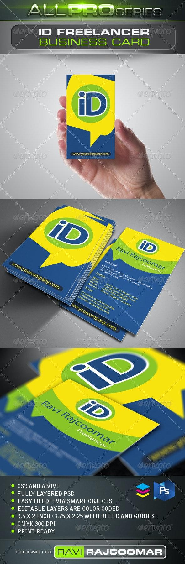 ID Freelancer Business Card - Creative Business Cards