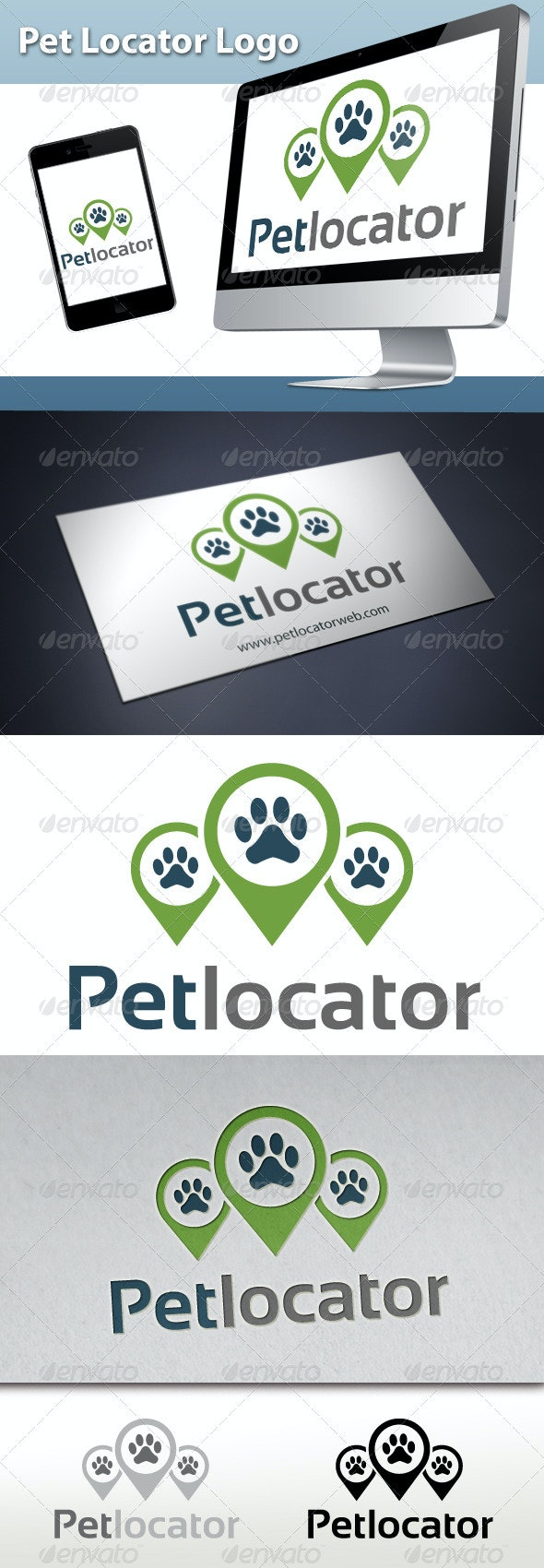 Pet Locator Logo - Animals Logo Templates