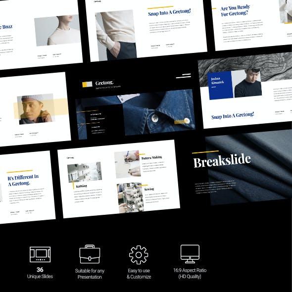 Gretong - Fashion Business Presentation Google Slides