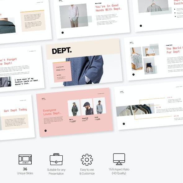 Dept - Fashion Business Presentation Powerpoint