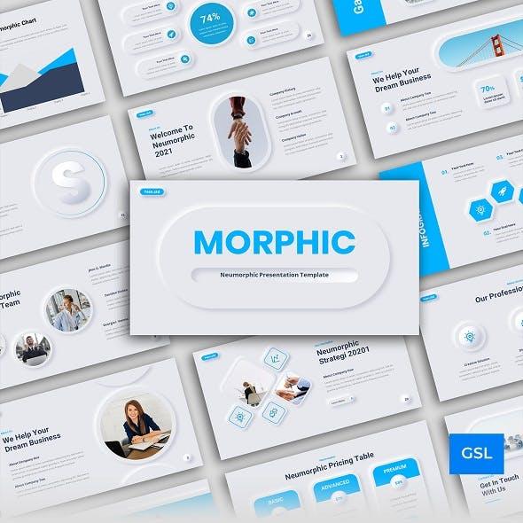 Neumorphic Business Presentation Google Slides Template