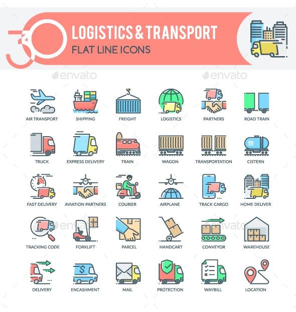 Logistics Icons - Business Icons