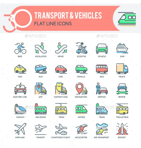 Transport Icons - Business Icons