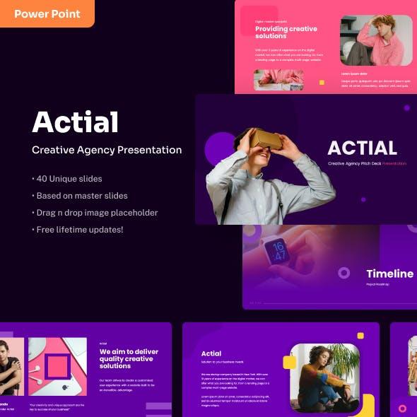 Actial - Creative PowerPoint Presentation
