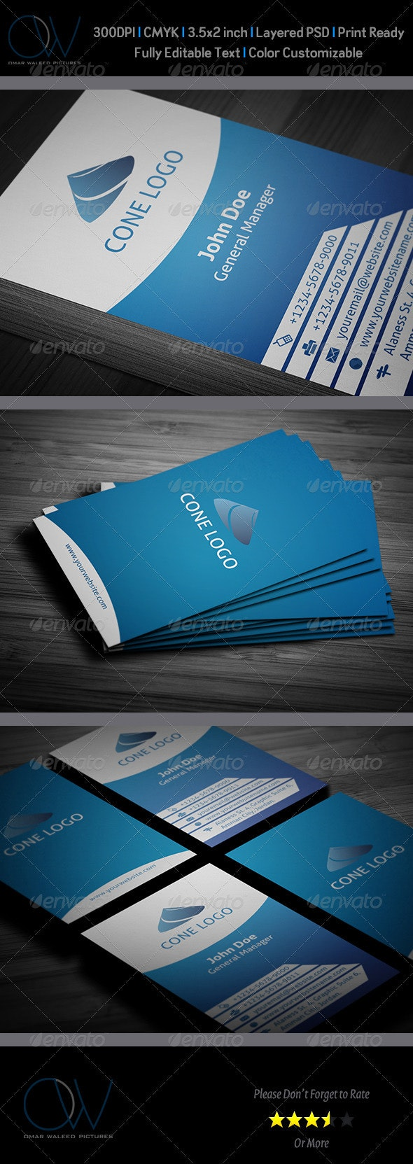 Blue Business Card - Creative Business Cards