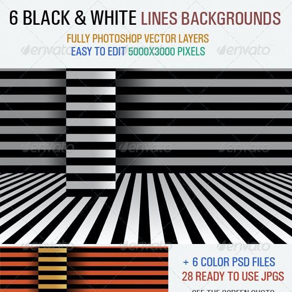 Black & White Line Backgrounds