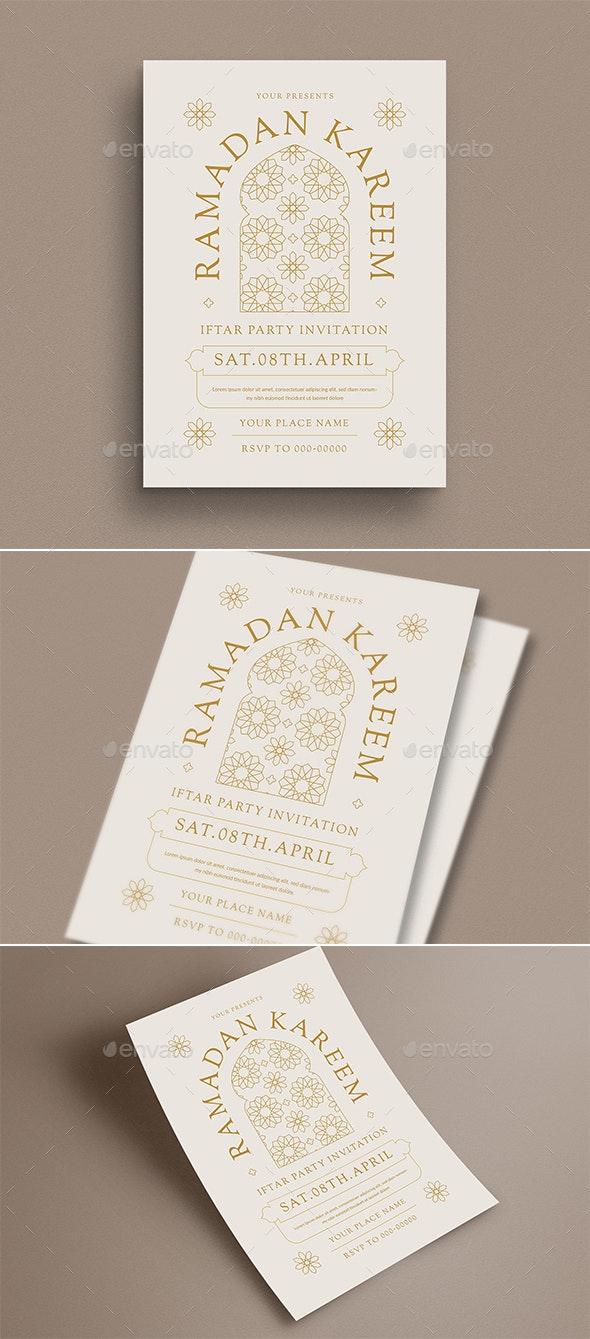 Ramadan Kareem Iftar Party Invitation/ Flyer - Flyers Print Templates