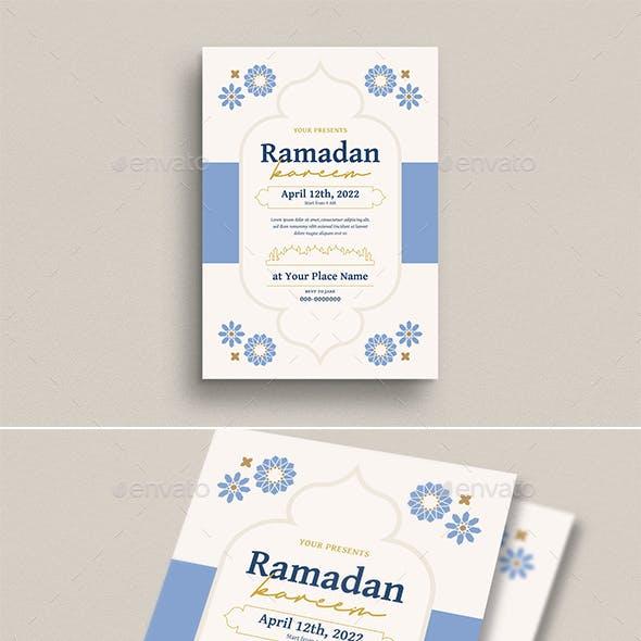 Ramadan Kareem Invitation/ Flyer