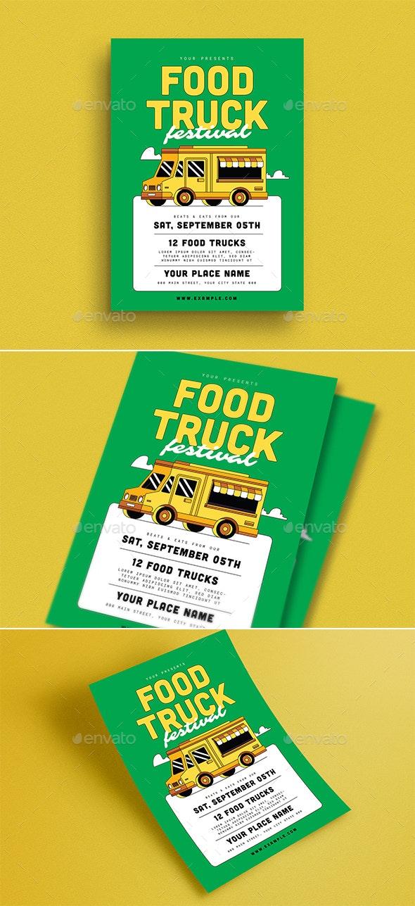 Food Truck Event Flyer - Flyers Print Templates