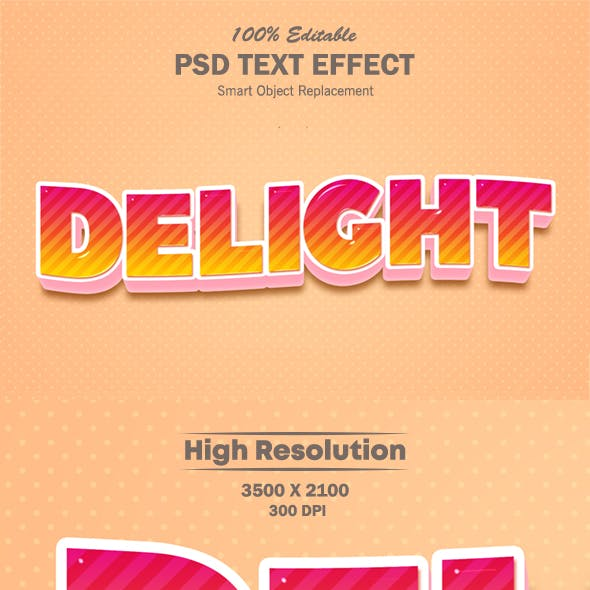 Delight Candy Style Text Effect