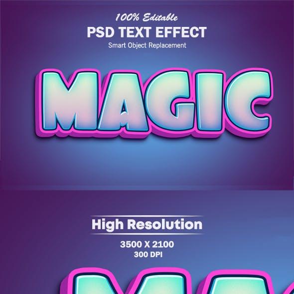 Magic 3D Photoshop Text Effect