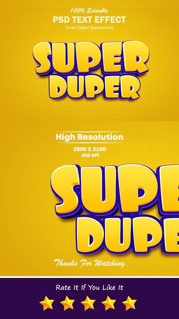 Super Duper 3D Photoshop Text Effect - Text Effects Styles
