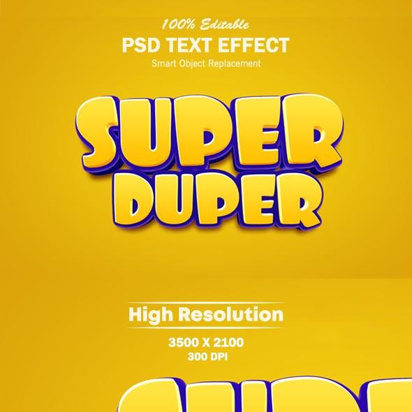 Super Duper 3D Photoshop Text Effect
