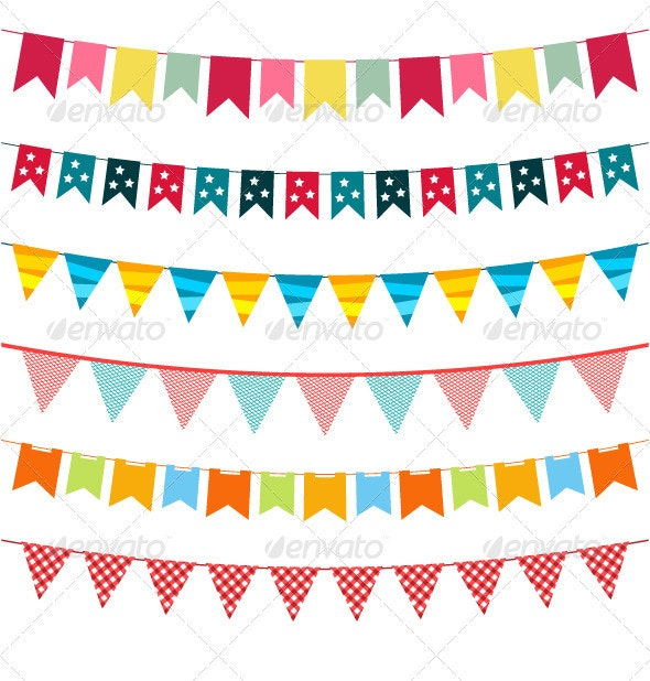 Vector bunting collection  - Birthdays Seasons/Holidays