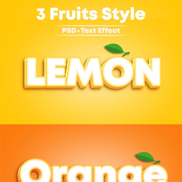 3 Fruits Style Photoshop Text Effect