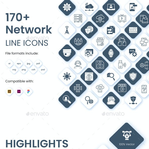 Collection of networking icons