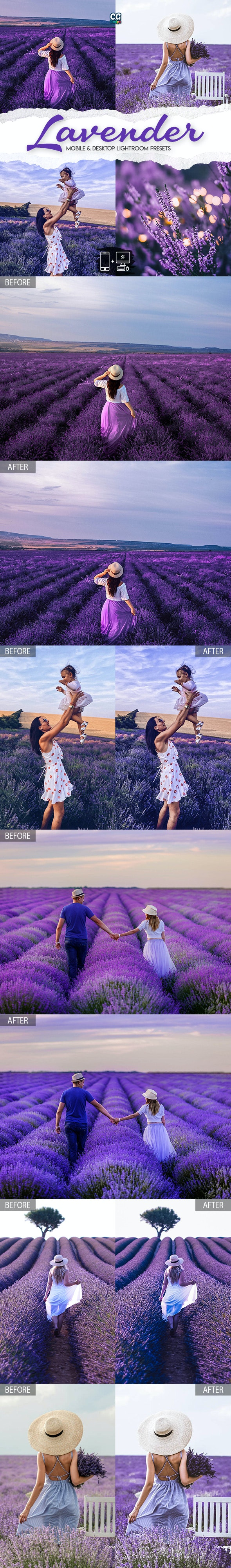 Lavender Lightroom Presets - 15 Premium Lightroom Presets - Landscape Lightroom Presets