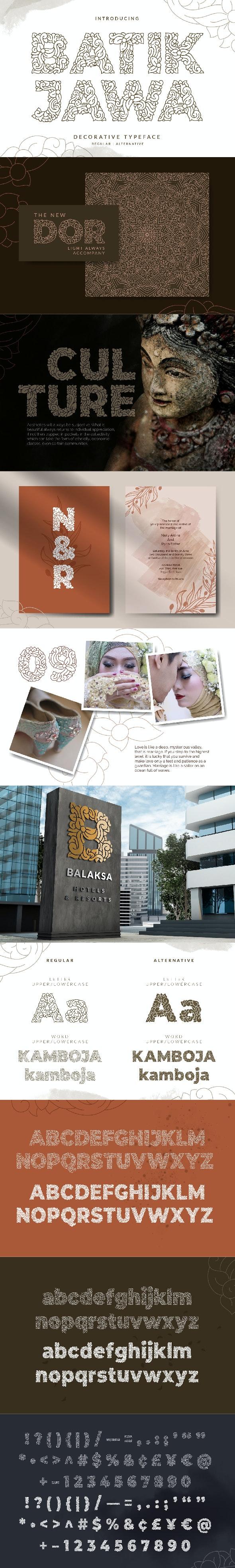 Batik Jawa Font - Miscellaneous Decorative