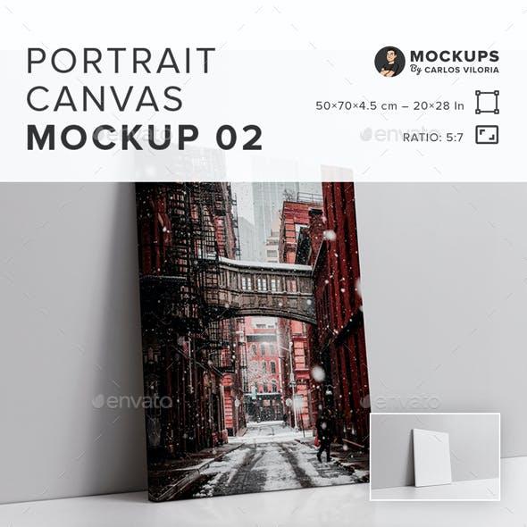 Portrait Canvas Ratio 5×7 Mockup 02