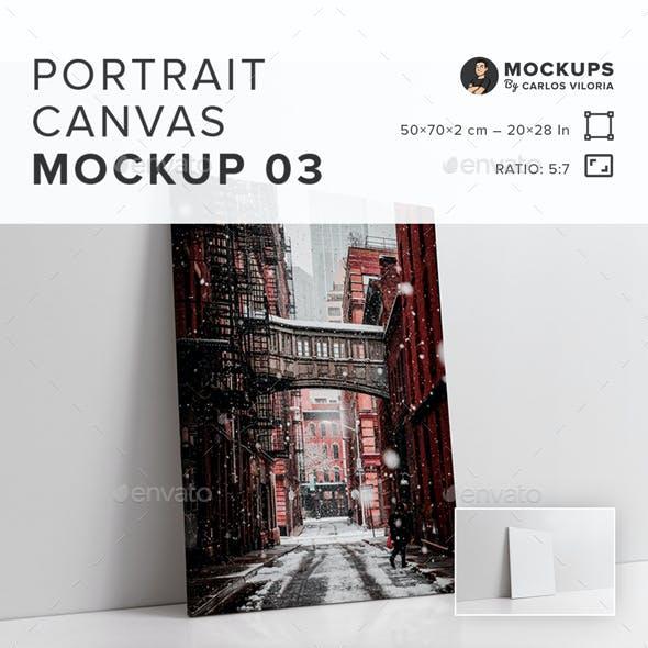 Portrait Canvas Ratio 5×7 Mockup 03