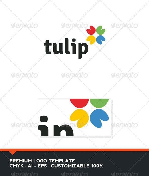 Tulip Logo Template - Abstract Logo Templates