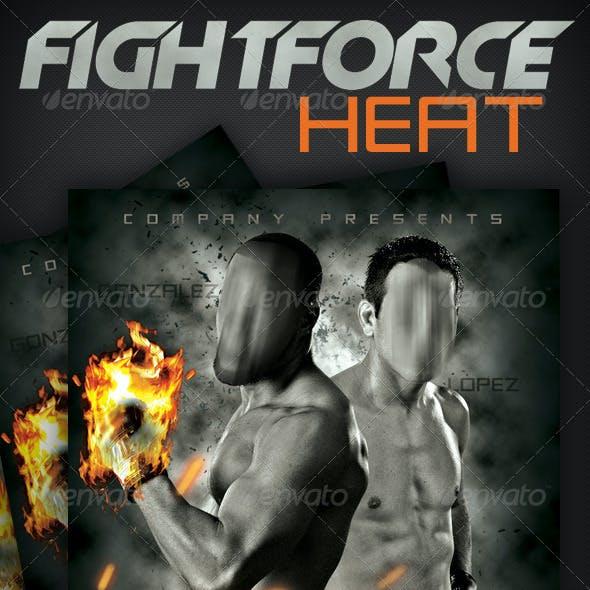 Fightforce Heat Poster & Flyer