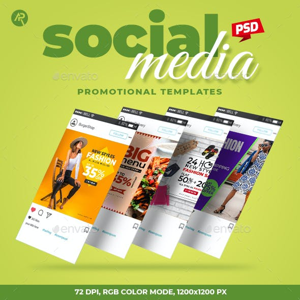 50-Social Media Promotional Templates
