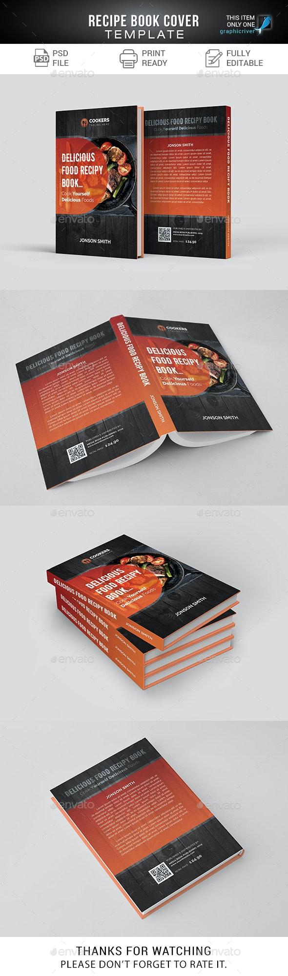 Recipe Book Cover - Miscellaneous Print Templates