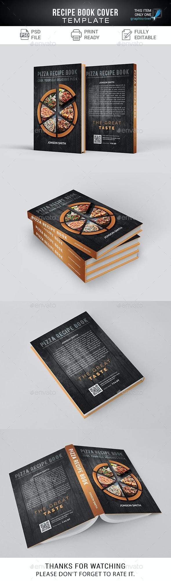 Recipe Book Cover / Pizza - Miscellaneous Print Templates
