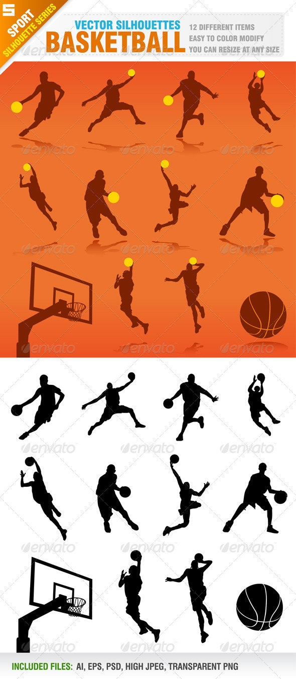 Basketball Silhouettes - Sports/Activity Conceptual