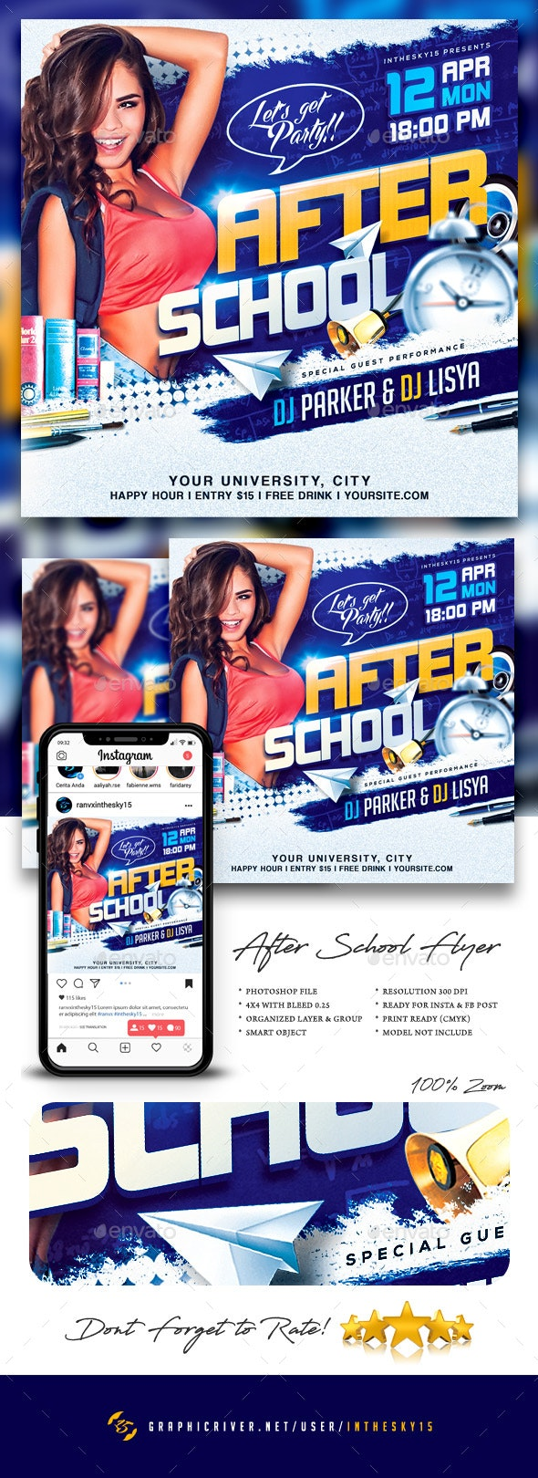 After School Flyer - Clubs & Parties Events