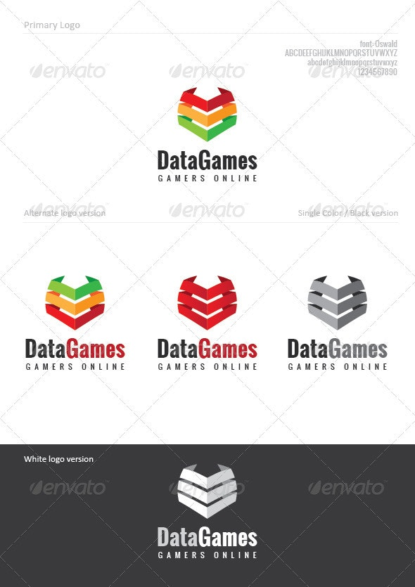 Data Games - Symbols Logo Templates