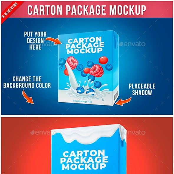 Carton Package Mockup