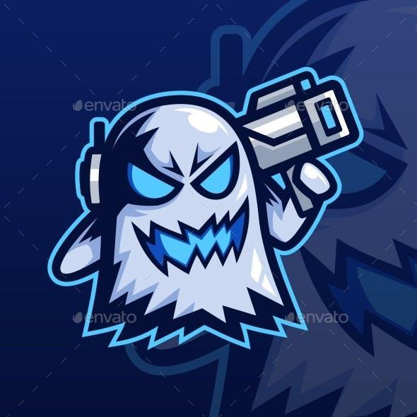 Ghost Bazooka Mascot