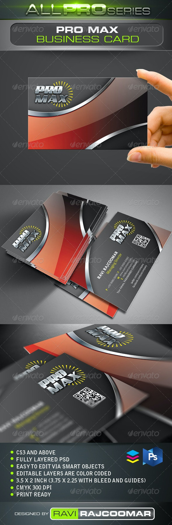 Pro Max Business Card - Business Cards Print Templates