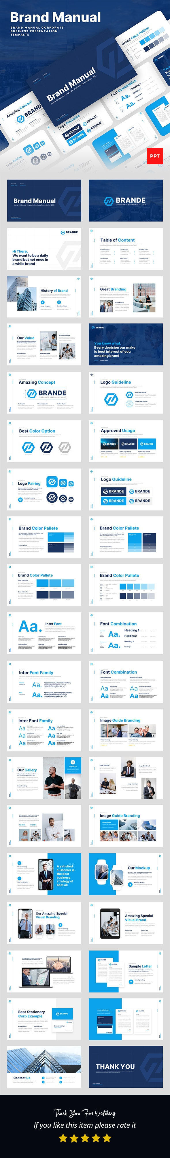 Brand Manual PowerPoint Presentation Template - Business PowerPoint Templates