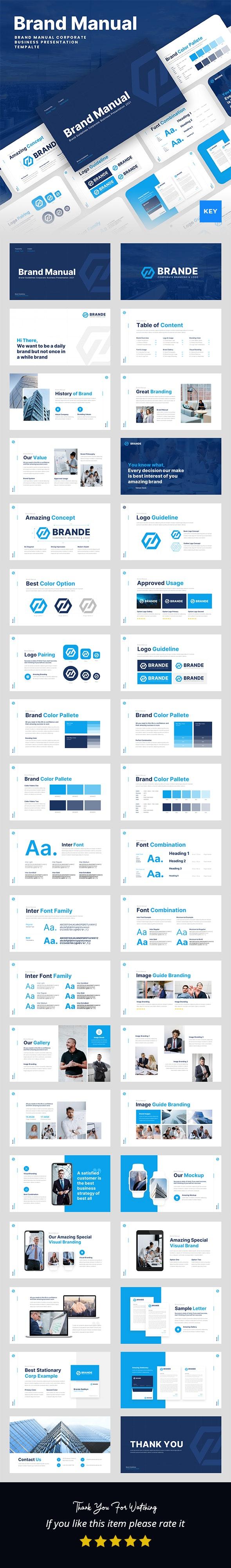Brand Manual Keynote Presentation Template - Business Keynote Templates