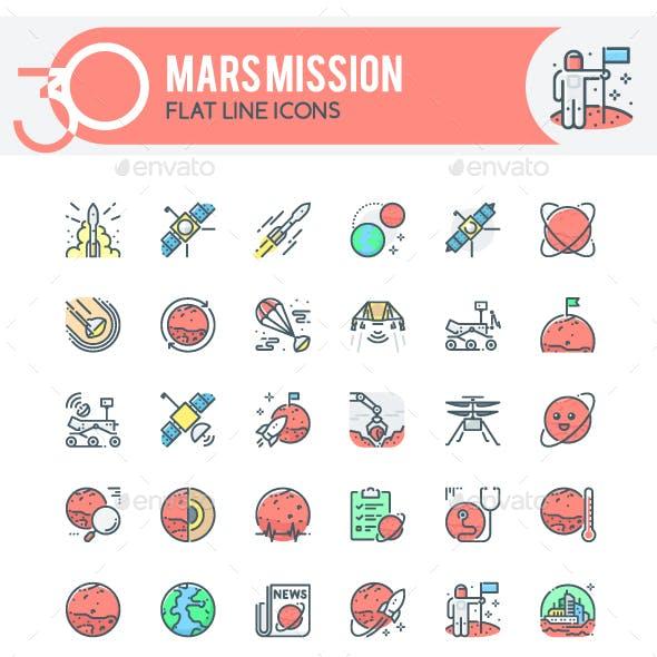 Mars Mission Icons