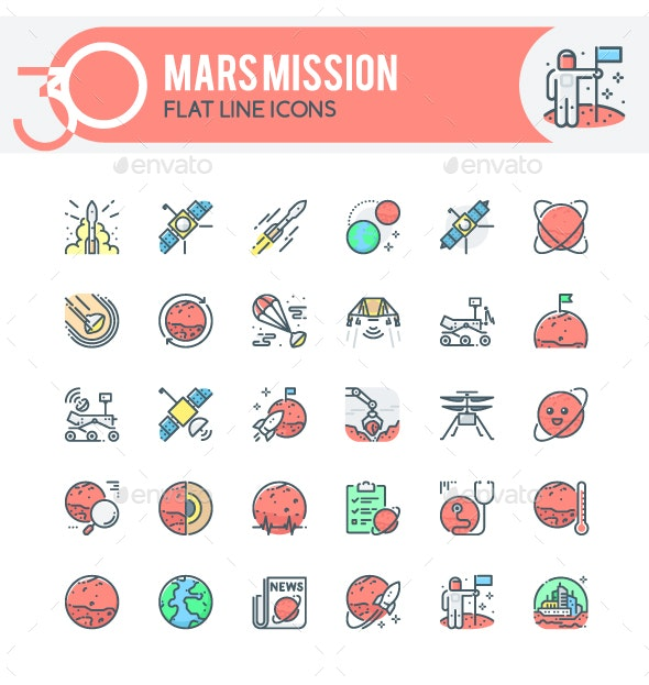Mars Mission Icons - Technology Icons