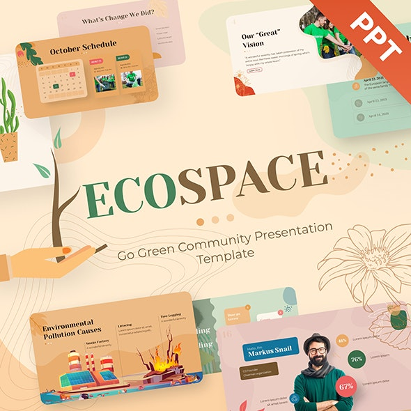 Ecospace Nature Powerpoint Template - Nature PowerPoint Templates