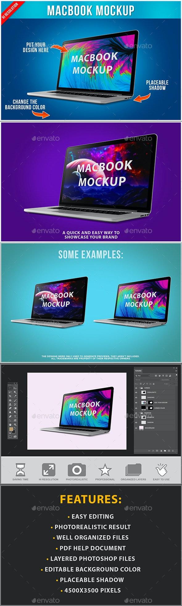 Laptop Mockup - Product Mock-Ups Graphics