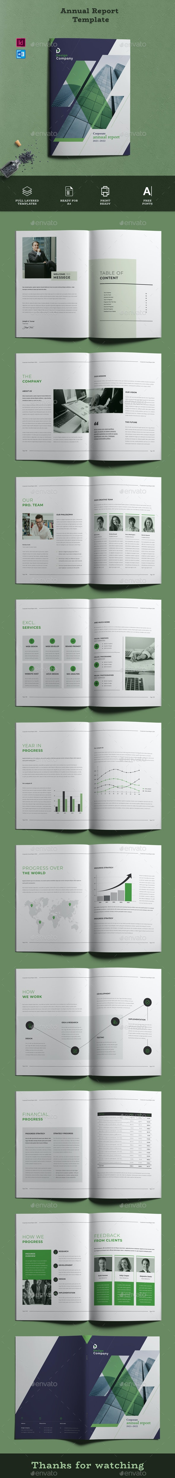 Annual Report Template Word - Informational Brochures