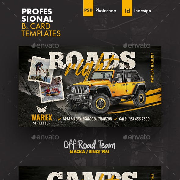 Off Road Business Card Templates