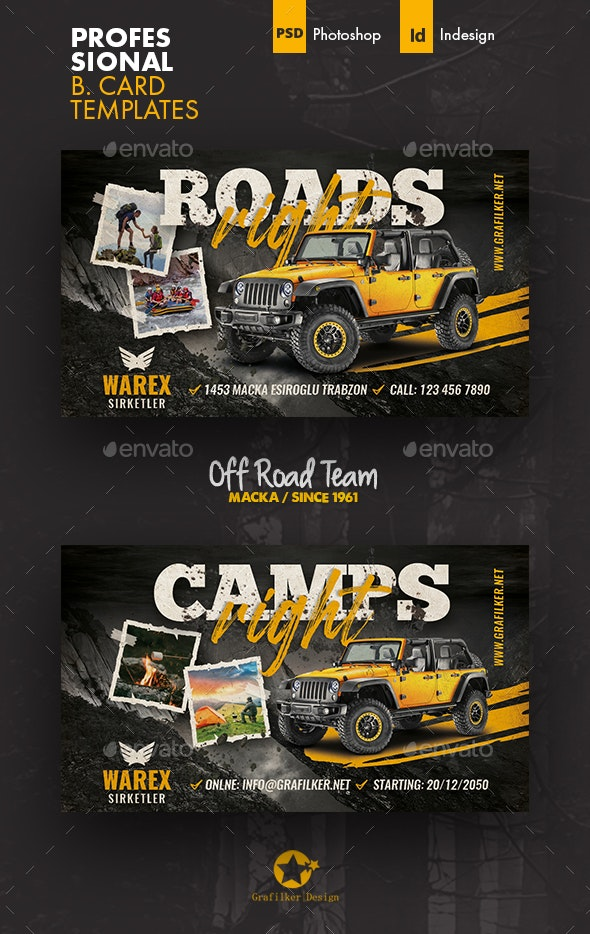 Off Road Business Card Templates - Corporate Business Cards